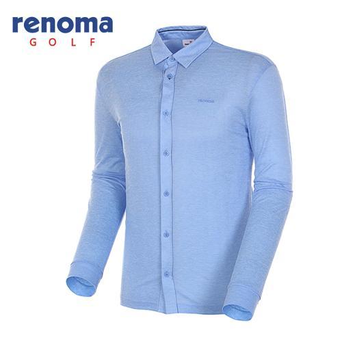 [레노마골프]18SS 남성 솔리드 셔츠형 풀오픈 티셔츠 RMTYH1115-906