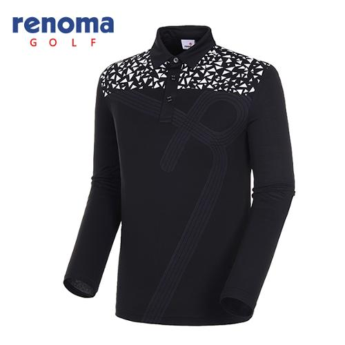 [레노마골프]18SS 남성 와플 포인트 카라 티셔츠 RMTYH1109-199