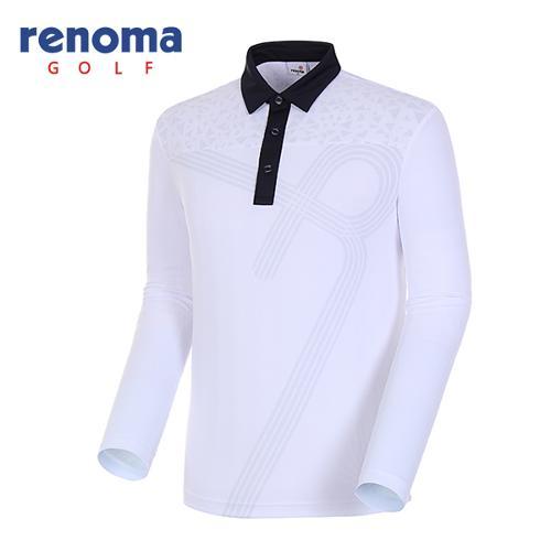 [레노마골프]18SS 남성 와플 포인트 카라 티셔츠 RMTYH1109-100