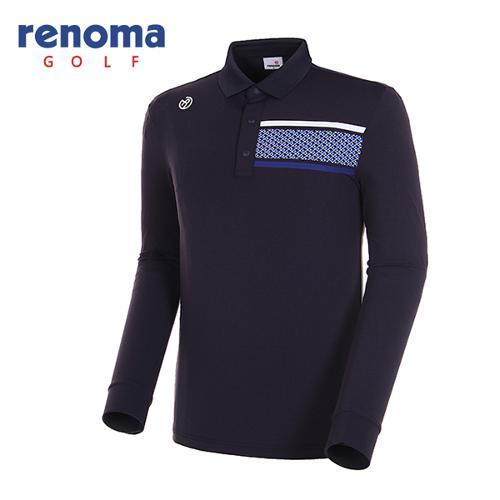 [레노마골프]18SS 남성 지오메트릭 패턴 카라 티셔츠 RMTPH1108-915
