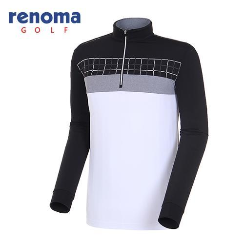 [레노마골프]18SS 남성 면 체크 포인트 반집업 티셔츠 RMTHH1110-199