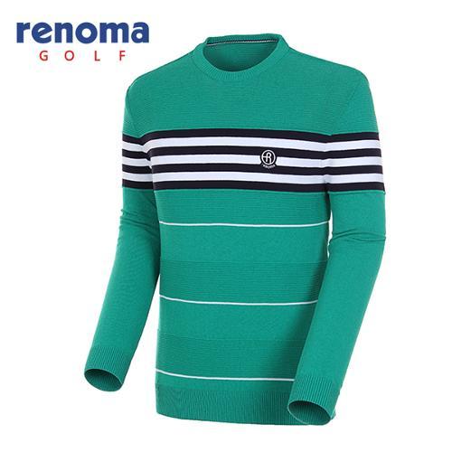 [레노마골프]18SS 남성 배색 라운드넥 풀오버 스웨터 RMSRH1205-804