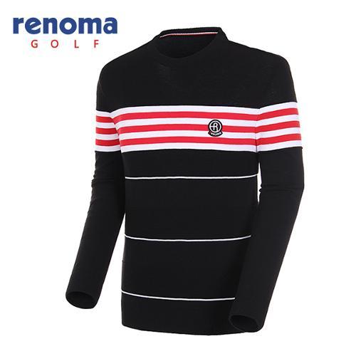 [레노마골프]18SS 남성 배색 라운드넥 풀오버 스웨터 RMSRH1205-199