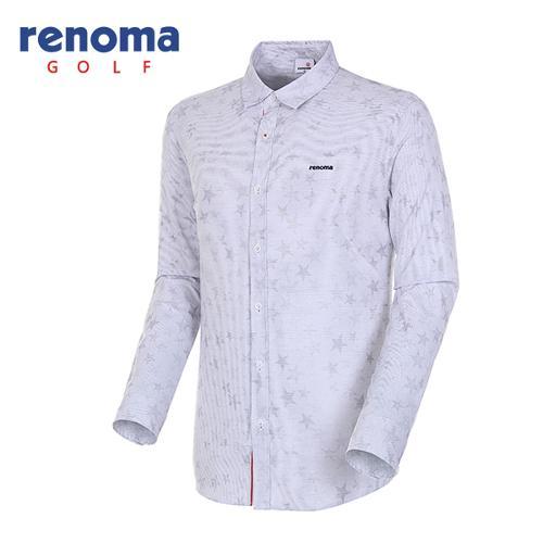 [레노마골프]18SS 남성 스타 자카드 스트레치 셔츠 RMBSH1602-100