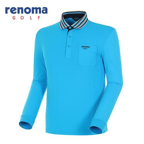 [레노마골프]남성 스트라이프 긴팔 폴로넥 티셔츠 RATS01511-BL
