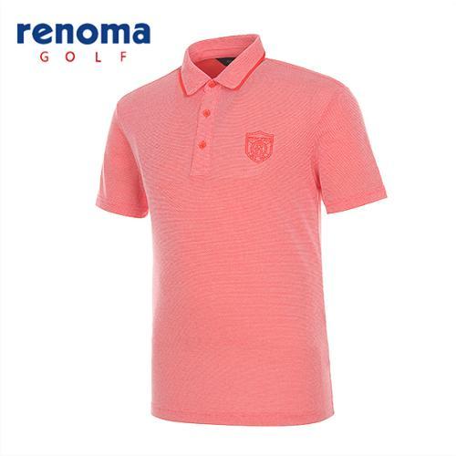 [레노마골프]남성 소프트 배색 반팔 티셔츠 RATS24531-DO