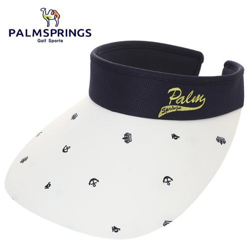 [팜스프링스] 마린룩 아이콘 패턴 메쉬배색 여성 골프 썬캡/골프모자_239353