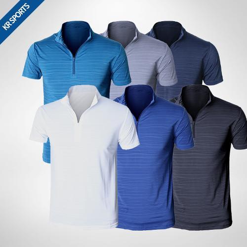 [KRSPORTS] 기능성 냉감원단 반집업 티셔츠(2디자인 택1)