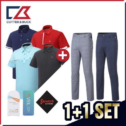커터앤벅 남성 최고급 클래식 기능성 반팔티셔츠 5종 택1 + 스판 골프바지