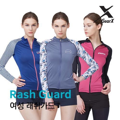 [기어엑스]집업 래쉬가드-여성 수영복