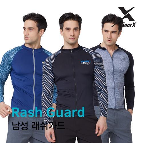 [기어엑스]집업 래쉬가드-남자 수영복