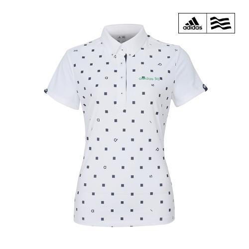 아디다스 여성 SS 클라이마라이트 스퀘어 도트 프린트 반팔 골프 티셔츠 AE5983 ADIDAS SS W GOLF SHIRT