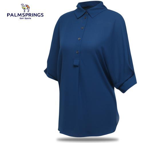 [팜스프링스] 박시핏 7부소매 여성 셔츠형 블라우스/골프웨어_239642