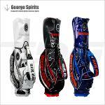 [조지스피리츠]정품판매처 조지스피리츠 골프백 CB-051 캐디백(화이트/블루/블랙)