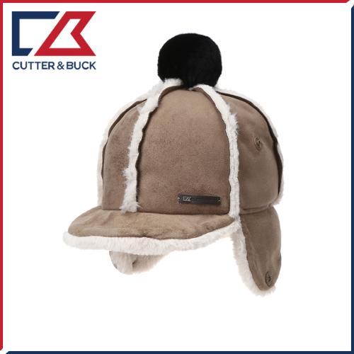 커터앤벅 여성 겨울 방한 페이크 무스탕 방울 귀마개 모자 - PB-14-174-214-09
