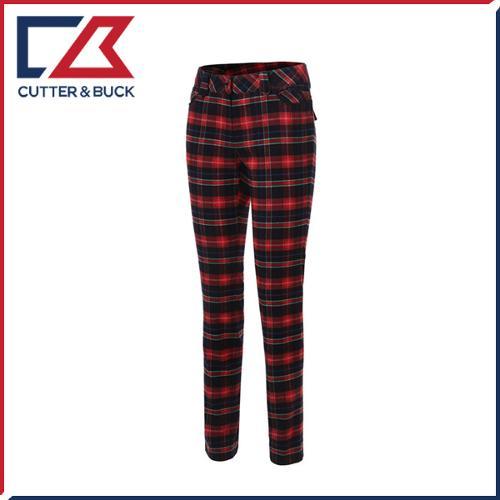 커터앤벅 여성 스판소재 체크 패턴포인트 골프바지/팬츠 - PB-11-174-204-21