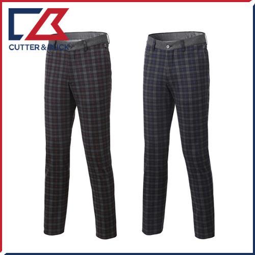 커터앤벅 남성 노턱 체크 패턴포인트 골프바지/팬츠 - PB-12-173-104-53