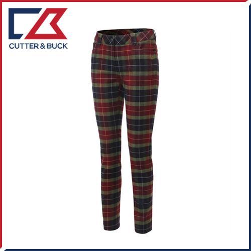 커터앤벅 여성 스판소재 체크 패턴포인트 골프바지/팬츠 - SL-11-164-204-21