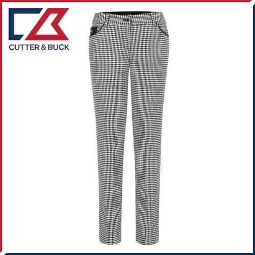 커터앤벅 여성 스판소재 하운드투스 체크무늬 골프바지/팬츠 - SL-11-163-204-25