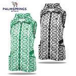[팜스프링] 매쉬 에펠탑무늬 셔링밴드 여성 바람막이 조끼/골프웨어_239952