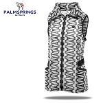 [팜스프링] 매쉬 에펠탑무늬 셔링밴드 여성 바람막이 조끼/골프웨어_239922