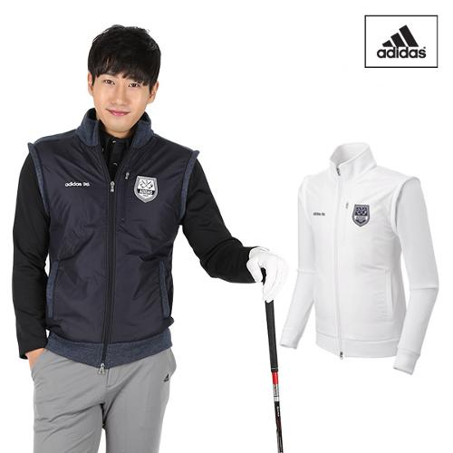 아디다스 FW 남성 플리스 스웨터 자켓 N68112 N68113 골프웨어 골프의류