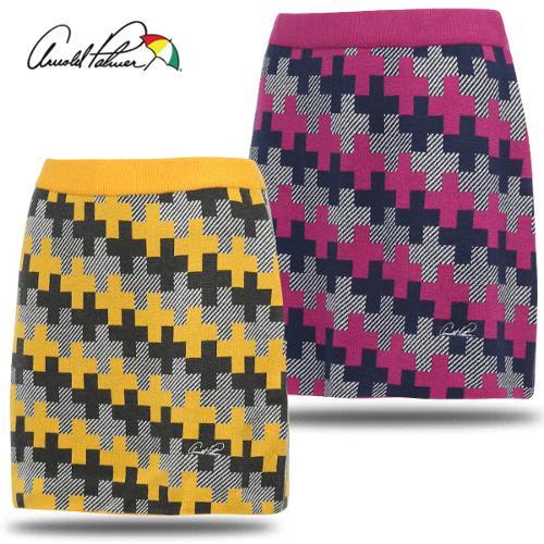 [아놀드파마] 아크릴혼방 그래픽 패턴 여성 니트 골프 스커트/골프웨어_240717