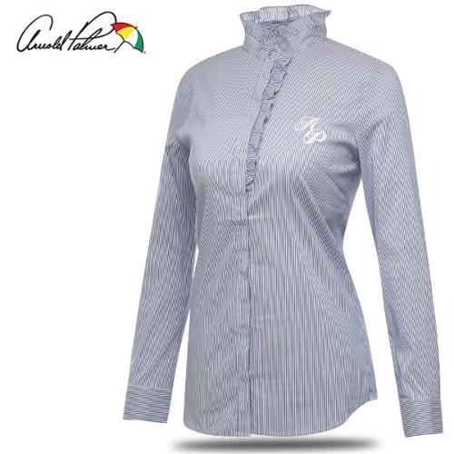 [아놀드파마] 넥 셔링 스트라이프 캐쥬얼 여성 긴팔 셔츠/골프웨어_240866