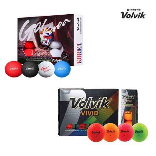 [무료 선물포장 서비스]볼빅 비비드 무반사 코팅 골프볼(3피스/12알)+쇼핑백 증정
