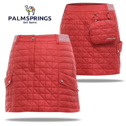 [팜스프링] 퀼팅스티치 허리밴딩 탈부착포켓 여성 패딩 골프 큐롯/골프웨어_240860