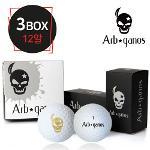 아브가노스 비거리 전용 2piece 골프공 4알 * 3box (12알) (BLACK/GOLD)