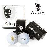 아브가노스 비거리 전용 2piece 골프공 4알 (BLACK/GOLD)