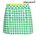 [비바하트] 여성 체크 더블단추 스커트 (V6ASK2110-G1)
