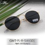 그린아이즈 정품 GMT-PL-R-SM(GD) / 라운드 스모크편광 선글라스(골드)