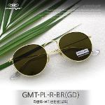 그린아이즈 정품 GMT-PL-R-BR(GD)  라운드 브라운편광 선글라스(골드)