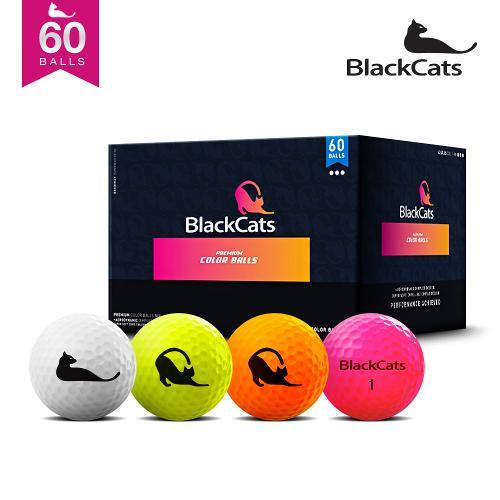 블랙캣츠 컬러혼합 60알 패키지 골프공(5다즌 수량)/로스트보다저렴한가격