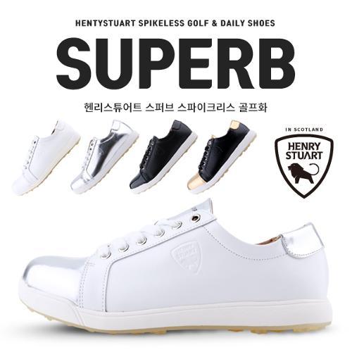 [황금꿀특가] [헨리스튜어트] 스파이크리스 골프화 스퍼브 SUPERB