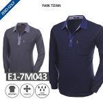 [PARK TOWN] 파크타운 잔줄 이중 기모 긴팔셔츠 Model No_E1-7M043
