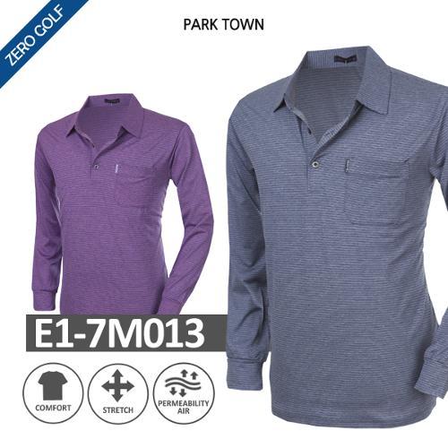 [PARK TOWN] 파크타운 잔스트라이프 긴팔셔츠 Model No_E1-7M013