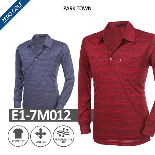 [PARK TOWN] 파크타운 딥파스텔 카라 긴팔셔츠  Model No_E1-7M012