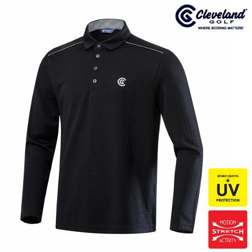 [클리브랜드골프] 하이퍼포먼스 클래식블랙 남성 골프 긴팔티셔츠/골프웨어_CGKMTS521