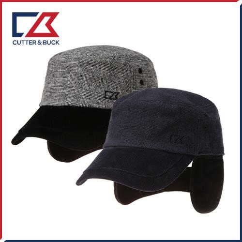 커터앤벅 남성 겨울 방한 체크무늬 속귀마개 모자 - 14-184-114-80