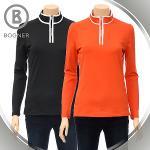 보그너 BOGNER 여성 하프집업 스판소재 후면 세로 패턴 긴팔티셔츠 - BN-01-183-201-04
