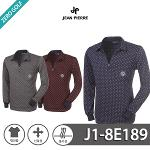 [JEAN PIERRE] 쟌피엘 포인트 패턴 하프지업 카라티셔츠 Model No_J1-8E189