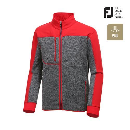 [풋조이] 남성 컬러 배색 스웨터 자켓 92636_GA