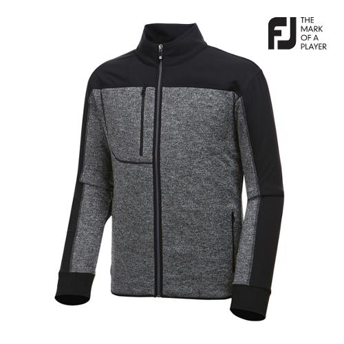 [풋조이] 남성 컬러 배색 스웨터 자켓 92634_GA