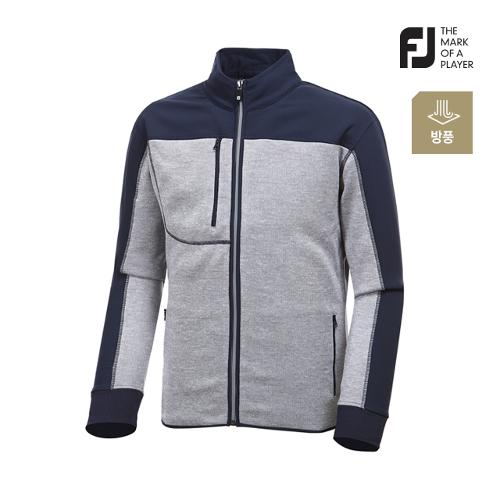 [풋조이] 남성 컬러 배색 스웨터 자켓 92635_GA