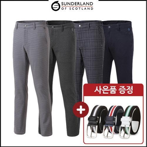 커터앤벅 남성 겨울 방한 스판 기모소재 골프바지 4종 택1 (사은품 벨트 증정)