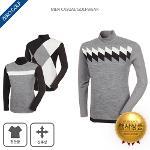 [마스터베어]따뜻하게 입기 좋은 패턴 하프넥 니트티셔츠 3종 택일