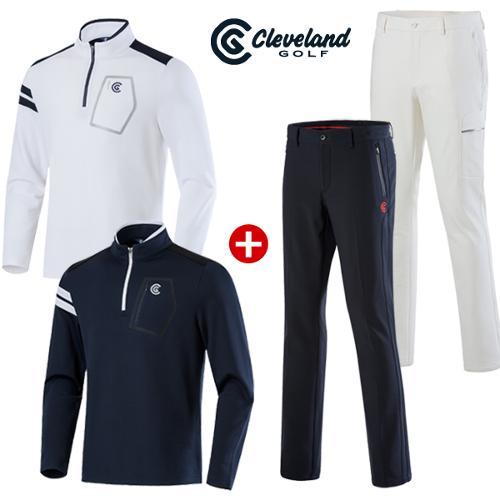 [클리브랜드골프] 남성 하프집업 티셔츠+남성 골프바지/골프웨어_CG534314